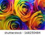 Multicolor Roses Flower Bouque...