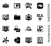 16 data filled icons set... | Shutterstock .eps vector #1682533396