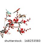 the theme of nature chinese... | Shutterstock . vector #168253583