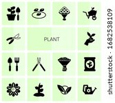 14 plant filled icons set... | Shutterstock .eps vector #1682538109