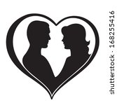 man and woman silhouette in... | Shutterstock .eps vector #168255416