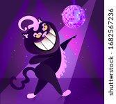 Dancing Cat Cartoon Vector ...