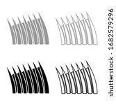 sharp dorsal fin icon outline... | Shutterstock .eps vector #1682579296