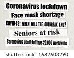 coronavirus pandemic crisis... | Shutterstock .eps vector #1682603290