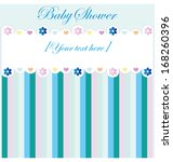 baby shower invitation card | Shutterstock .eps vector #168260396