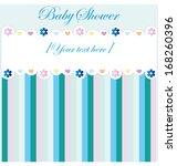 baby shower invitation card | Shutterstock .eps vector #168260396