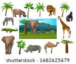 african animals  set. vector...   Shutterstock .eps vector #1682625679