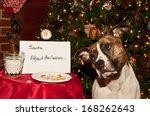 Dog Eats Santa\'s Cookies.