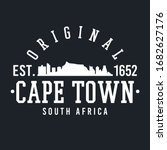 cape town  south africa skyline ...   Shutterstock .eps vector #1682627176