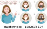 woman pointing gesture. four... | Shutterstock .eps vector #1682635129