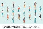 social distancing concept... | Shutterstock .eps vector #1682643013