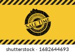Sale Time Grunge Warning Sign...