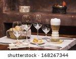 latte coffee | Shutterstock . vector #168267344