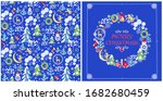 christmas design with childish...   Shutterstock .eps vector #1682680459