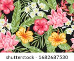 seamless pattern with tropical... | Shutterstock .eps vector #1682687530