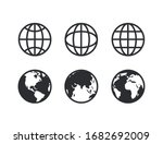 globe collection icon symbol... | Shutterstock .eps vector #1682692009