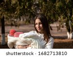 pretty young woman holding a...   Shutterstock . vector #1682713810