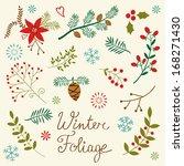 a beautiful winter foliage... | Shutterstock .eps vector #168271430