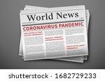 epidemic breaking news. mockup... | Shutterstock .eps vector #1682729233