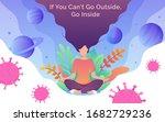 coronavirus outbreak concept. a ... | Shutterstock .eps vector #1682729236