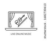 live online music concert icon...   Shutterstock .eps vector #1682730613
