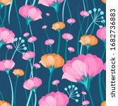 floral pattern vector seamless. ... | Shutterstock .eps vector #1682736883