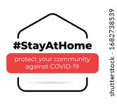stayathome hastag vector image.... | Shutterstock .eps vector #1682738539