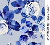 roses seamless pattern | Shutterstock . vector #168276614