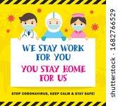 stop covid 19 coronavirus... | Shutterstock .eps vector #1682766529