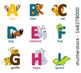 Alphabet Animals From A To I  ...