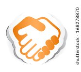 business handshake icon with...   Shutterstock .eps vector #168278870