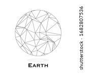 polygonal planet earth....   Shutterstock .eps vector #1682807536