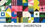 brutalism art inspired abstract ...   Shutterstock .eps vector #1682807626