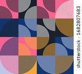 seamless geometric pattern... | Shutterstock .eps vector #1682807683