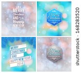 set of abstract christmas and...   Shutterstock .eps vector #168283520