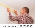 protecting the ceiling with... | Shutterstock . vector #1682839333