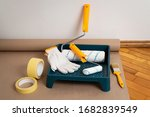 painting tools  painter s tape  ... | Shutterstock . vector #1682839549