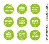 fresh healthy organic vegan...   Shutterstock .eps vector #1682846053