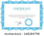 template border diplomas ... | Shutterstock .eps vector #168284798