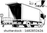 slider lift for truck. truck... | Shutterstock .eps vector #1682852626