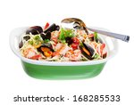 seafood dish with mussels... | Shutterstock . vector #168285533