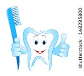 smiling dental tooth with... | Shutterstock .eps vector #168285800