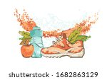 fitness concept. elements of a...   Shutterstock .eps vector #1682863129