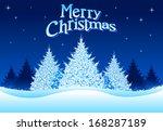christmas tree background. all...   Shutterstock .eps vector #168287189
