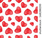 seamless background red hearts | Shutterstock .eps vector #168288200