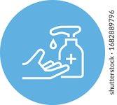 hand with soap dispenser... | Shutterstock .eps vector #1682889796