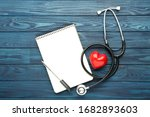 Stethoscope With Notepad  Red...