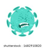 sick emoji of cartoon character ... | Shutterstock .eps vector #1682910820