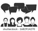 people avatars with speach... | Shutterstock .eps vector #1682914270