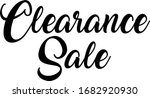 clearance sale calligraphy... | Shutterstock .eps vector #1682920930